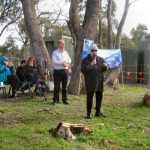 Aboriginal Leader Lowitja O'Donohue and Phil Hoffmann, Blackwood Walk of Reconciliation, 29 May 2016